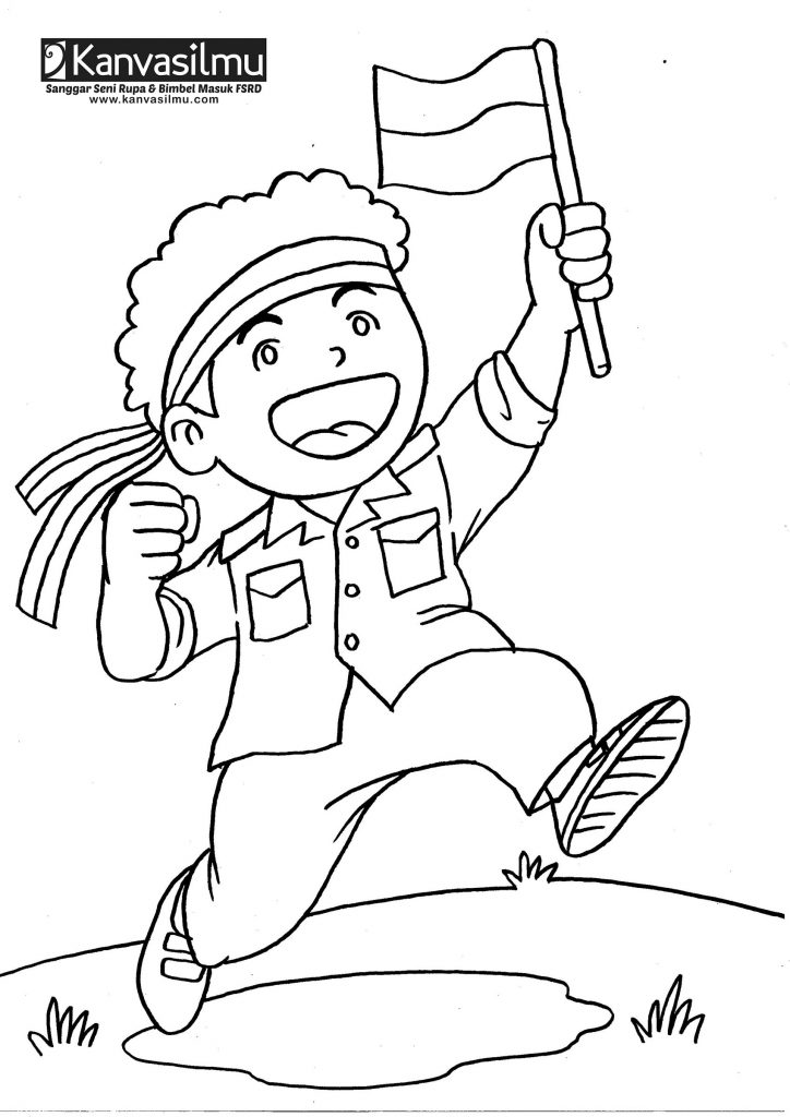 Gambar Mewarnai Untuk Anak Tk Tema Kemerdekaan Gambarmewarnai2019
